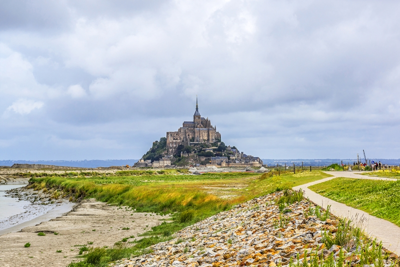 Mont-Saint-Michel is a fortress during high tide.